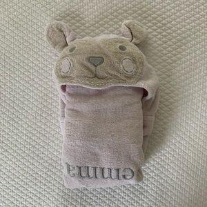 "Pottery Barn Kids Hooded Towel ""Emma"""